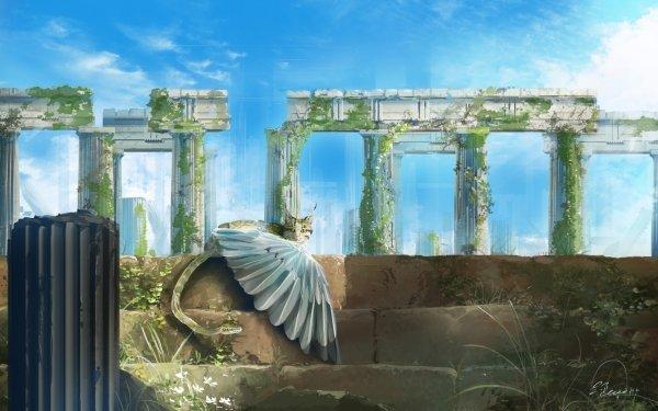 Fantaisie Chimera Animaux Fantastique Ruine Créature Fond d'écran HD   Arrière-Plan