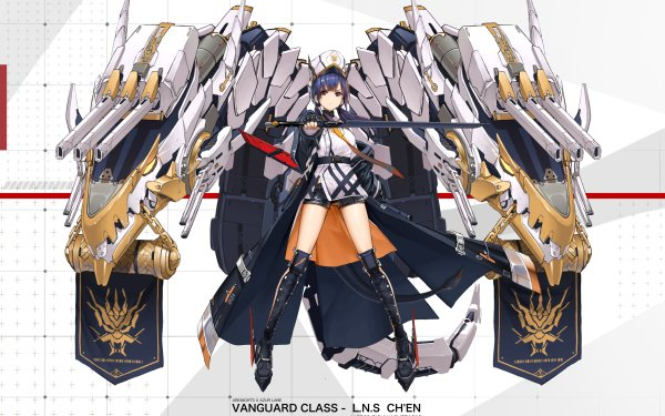 Anime Crossover Chen Azur Lane Arknights HD Wallpaper | Background Image
