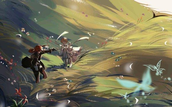 Video Game Genshin Impact Lumine Diluc HD Wallpaper | Background Image