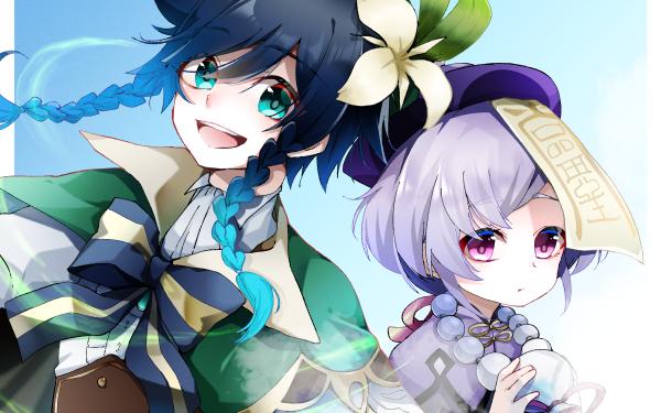 Video Game Genshin Impact Venti Qiqi HD Wallpaper | Background Image