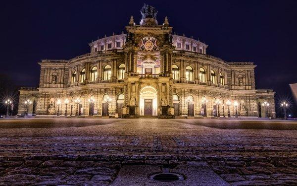 Man Made Opera House Dresden Saxony Germany HD Wallpaper   Background Image