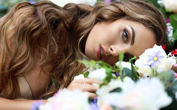 Women Model Models Woman Girl Brunette Long Hair HD Wallpaper | Background Image