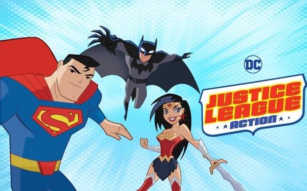 TV Show Justice League Action Justice League Superman Clark Kent Batman Bruce Wayne Wonder Woman Diana Prince DC Comics Logo HD Wallpaper   Background Image