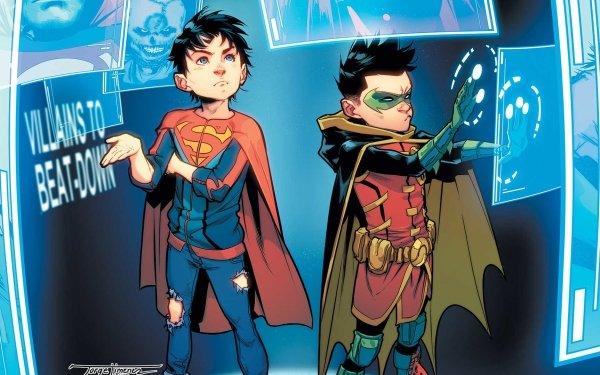 Comics Super-Sons Superboy Jon Kent Damian Wayne Robin DC Comics HD Wallpaper   Background Image