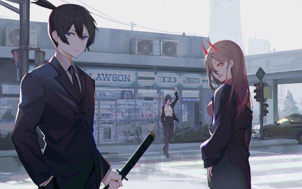 Anime Chainsaw Man Aki Hayakawa Power Himeno HD Wallpaper | Background Image