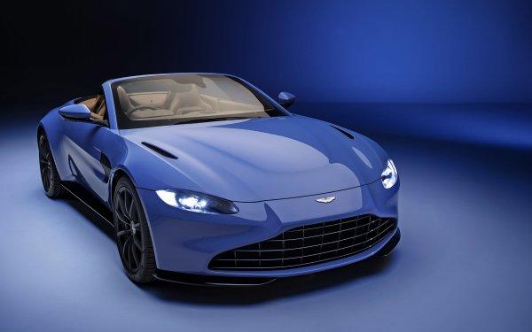 Vehicles Aston Martin Vantage Roadster Aston Martin Sport Car Roadster Blue Car Car HD Wallpaper   Background Image
