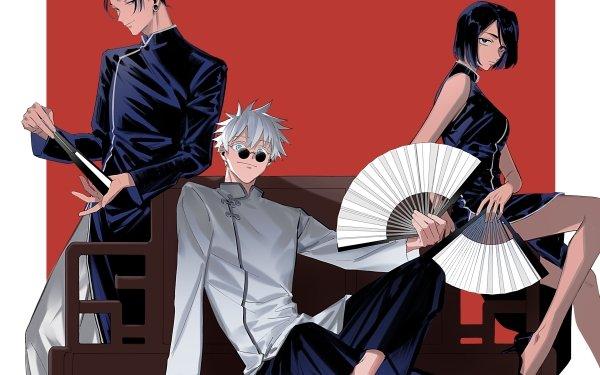 Anime Jujutsu Kaisen Satoru Gojo Suguru Geto Shoko Ieiri HD Wallpaper | Background Image