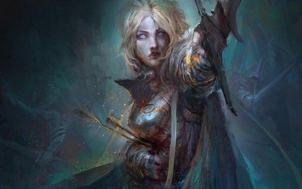 Fantasy Women Warrior Blood HD Wallpaper | Background Image