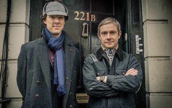 TV Show Sherlock Sherlock Holmes Benedict Cumberbatch Martin Freeman HD Wallpaper | Background Image