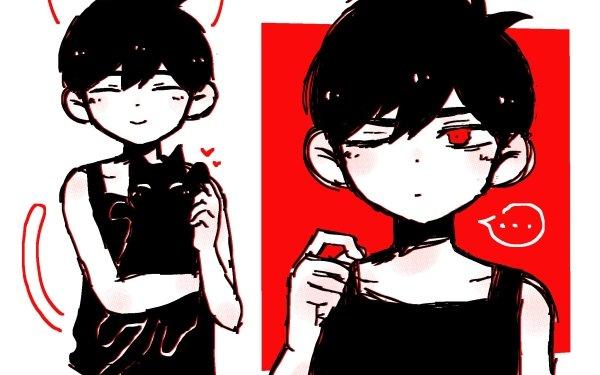 Video Game OMORI Omori Boy Cat Red Eyes HD Wallpaper | Background Image