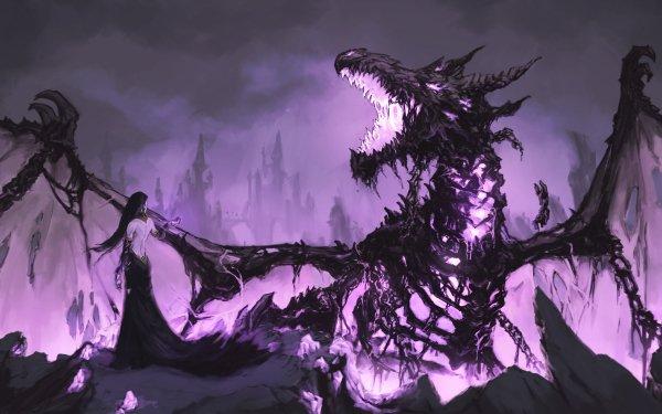 Fantaisie Dragon Magicienne Fond d'écran HD | Image