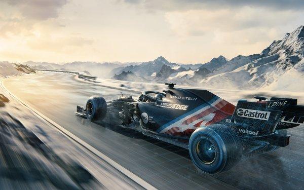 Sports F1 Racing Renault Alpine HD Wallpaper | Background Image