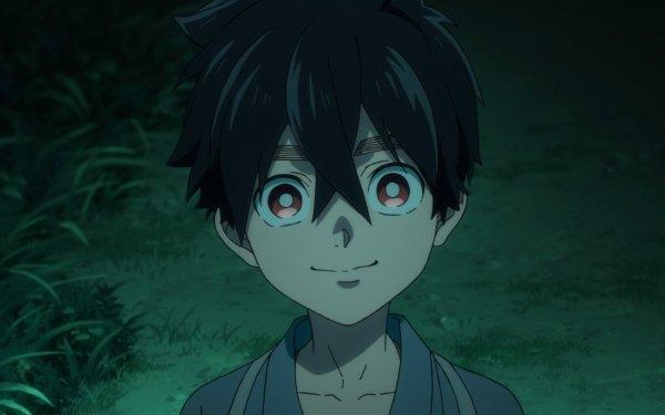 Anime Kemono Jihen Red Eyes Black Hair Kabane Kusaka Two-Toned Hair HD Wallpaper | Background Image