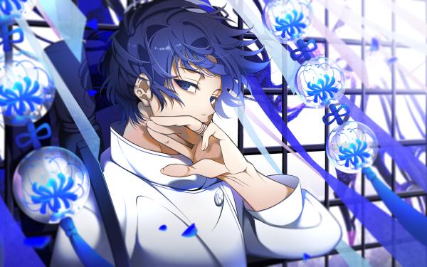 Anime Jujutsu Kaisen Yuta Okkotsu Blue Hair Blue Eyes School Uniform HD Wallpaper   Background Image