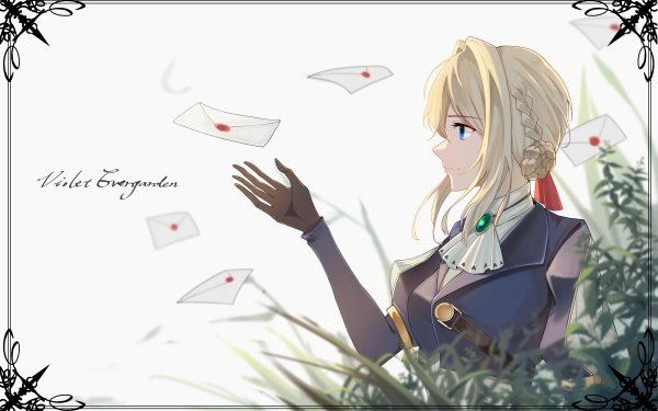 Anime Violet Evergarden Blonde Blue Eyes HD Wallpaper   Background Image