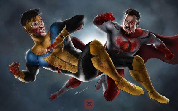 TV Show Invincible Mark Grayson Omni-Man Blood Nolan Grayson HD Wallpaper | Background Image