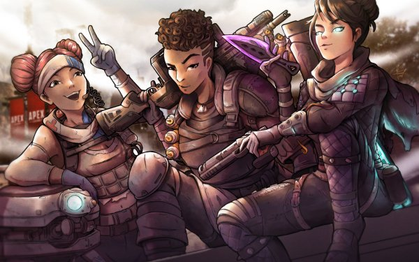 Video Game Apex Legends Bangalore Lifeline Wraith HD Wallpaper | Background Image