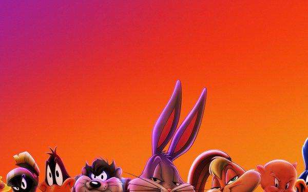 Movie Space Jam 2 Looney Tunes Bugs Bunny Lola Bunny Daffy Duck Tweety Porky Pig Marvin the Martian Tasmanian Devil HD Wallpaper | Background Image