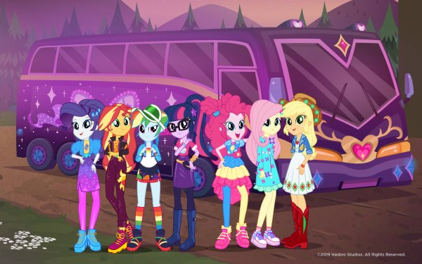 TV Show My Little Pony: Equestria Girls My Little Pony Sci-Twi Pinkie Pie Rainbow Dash Sunset Shimmer Applejack Fluttershy Rarity HD Wallpaper | Background Image
