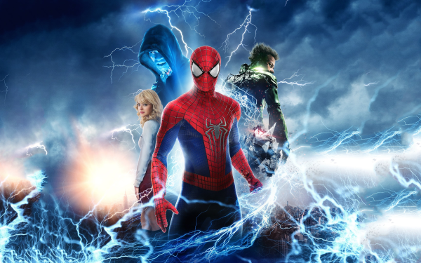 Movie The Amazing Spider-Man 2  Spider-Man Gwen Stacy Emma Stone Electro Green Goblin Rhino Jamie Foxx Dane DeHaan Superhero Harry Osborn Andrew Garfield HD Wallpaper | Background Image