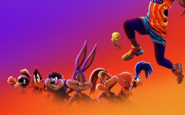 Movie Space Jam 2 Looney Tunes Bugs Bunny Daffy Duck Lola Bunny Tweety Speedy Gonzales Porky Pig Marvin the Martian HD Wallpaper | Background Image