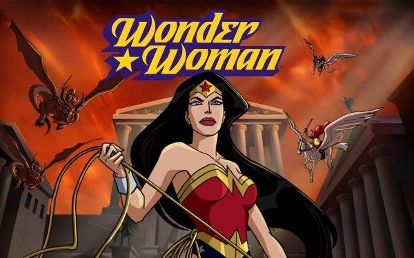 Movie Wonder Woman (2009) Wonder Woman Diana of Themyscira Lasso of Truth HD Wallpaper | Background Image