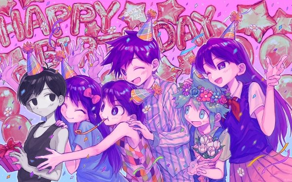 Video Game OMORI Omori Aubrey Kel Hero Basil Mari Happy Birthday HD Wallpaper | Background Image