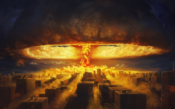 Video Game ATOM RPG Nuclear Explosion Nuclear Bomb Mushroom Cloud HD Wallpaper | Background Image