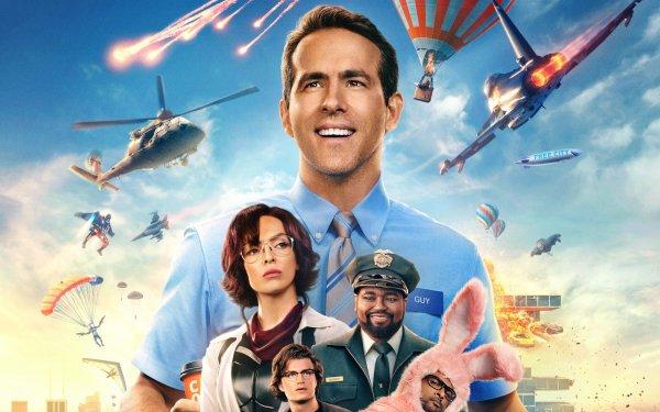 Movie Free Guy Jodie Comer Ryan Reynolds Joe Keery Lil Rel Howery HD Wallpaper | Background Image