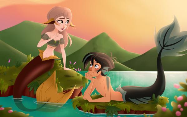 TV Show Tangled: The Series Varian Mermaid Merman HD Wallpaper | Background Image