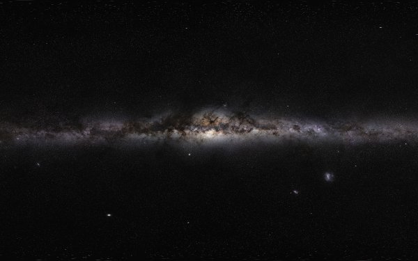 Sci Fi Milky Way Panorama Galaxy HD Wallpaper | Background Image