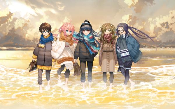 Anime Laid-Back Camp Yuru Camp Aoi Inuyama Nadeshiko Kagamihara Chiaki Oogaki Ena Saitou Rin Shima HD Wallpaper   Background Image