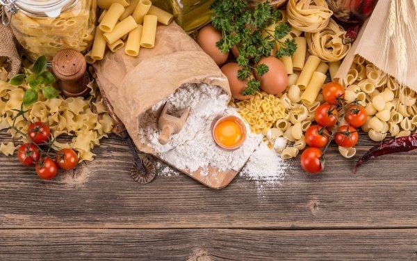 Food Pasta Still Life Tomato Flour HD Wallpaper | Background Image