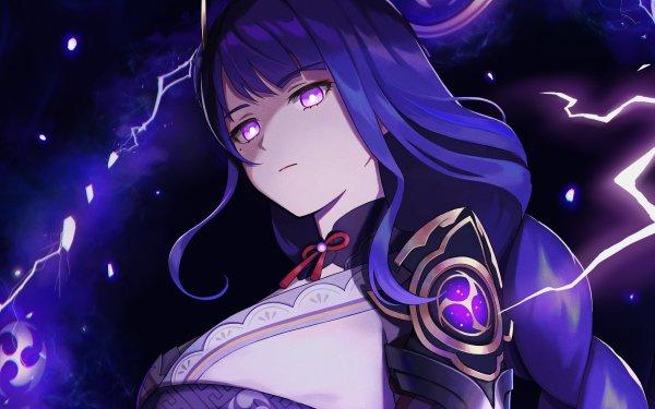 Videospel Genshin Impact Baal Raiden Shogun HD Wallpaper | Achtergrond