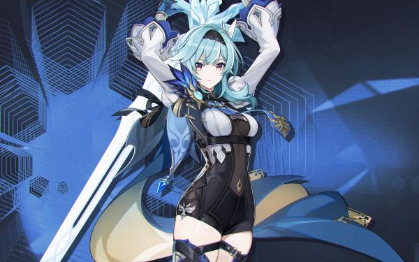 Videospel Genshin Impact Eula HD Wallpaper | Achtergrond