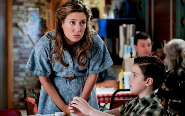 TV Show Young Sheldon Iain Armitage Sheldon Cooper Zoe Perry Mary Cooper HD Wallpaper | Background Image