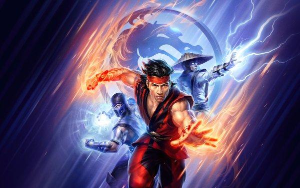 Movie Mortal Kombat Legends: Battle of the Realms Sub-Zero Liu Kang Raiden HD Wallpaper | Background Image