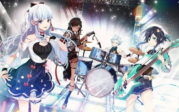 Video Game Genshin Impact Chongyun Venti Kamisato Ayaka Xinyan HD Wallpaper   Background Image