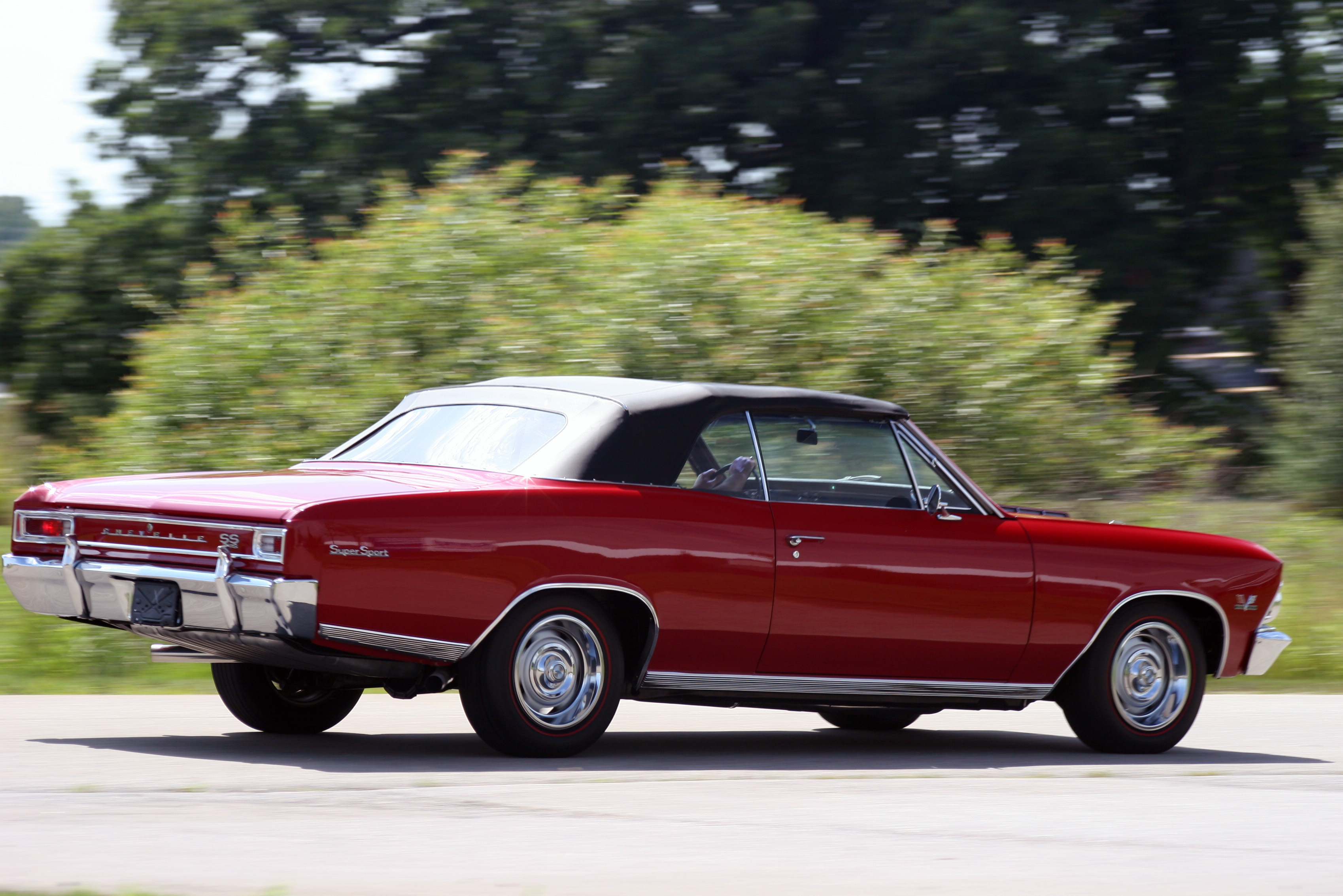 1966 CHEVELLE SS CONVERTIBLE HD Wallpaper | Background Image