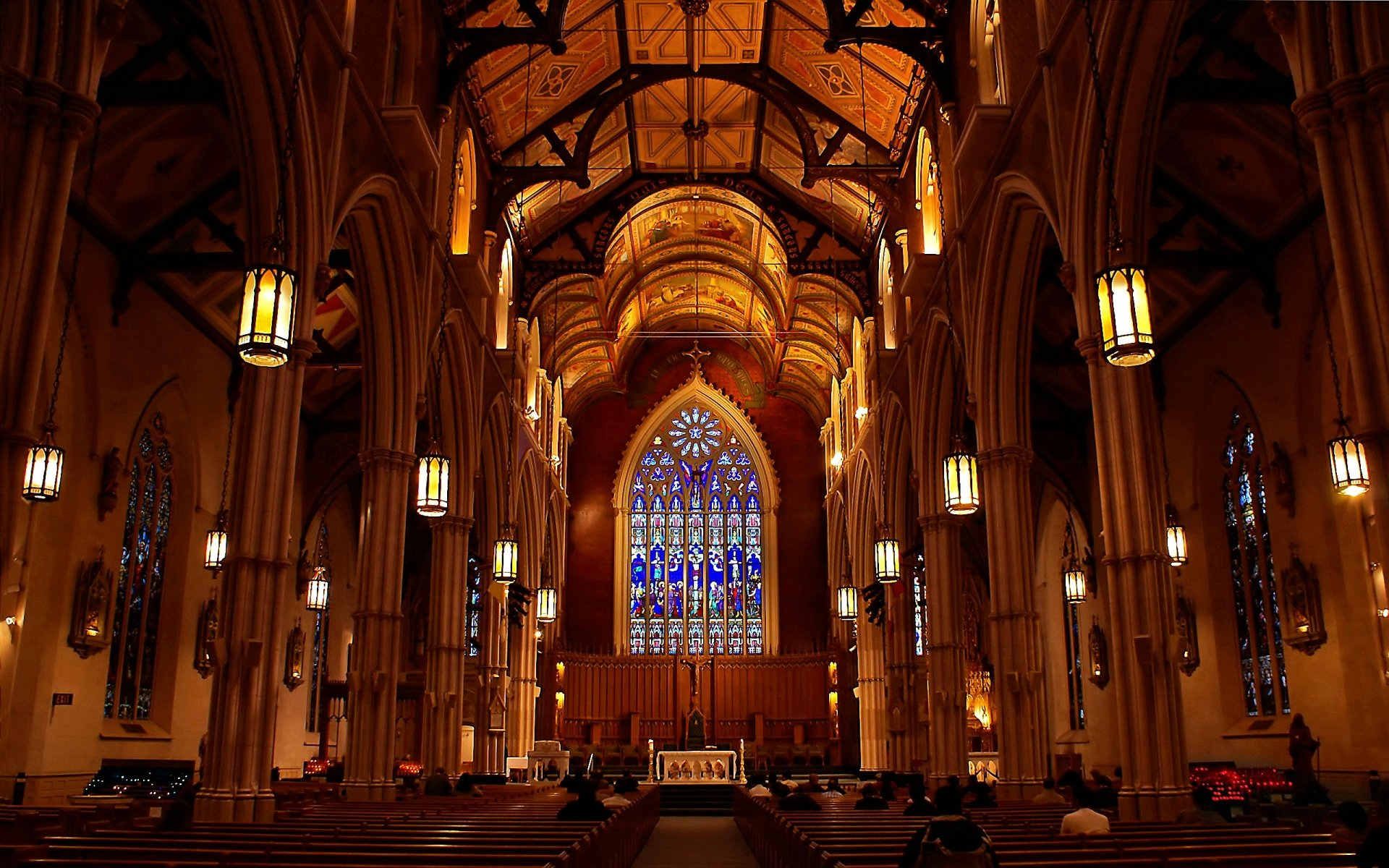 Religious - Cathedral  Building Light Church Architecture Wallpaper