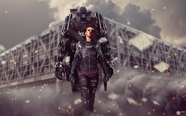 Photography Manipulation Sci Fi Robot Mecha Warrior HD Wallpaper | Background Image
