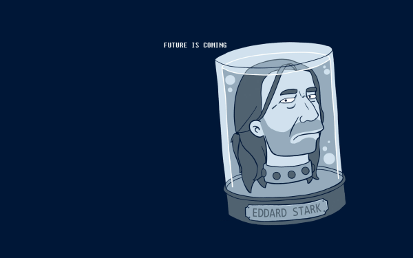Humor Tv Show Collage Futurama Head Eddard Stark Blue Game Of Thrones Cartoon HD Wallpaper | Background Image