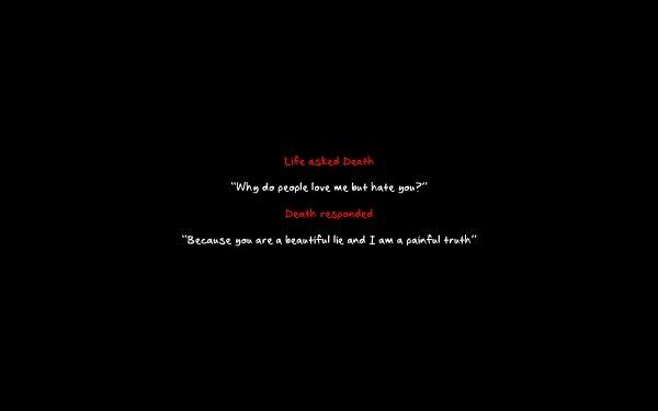 Humor Dark Life Death HD Wallpaper | Background Image