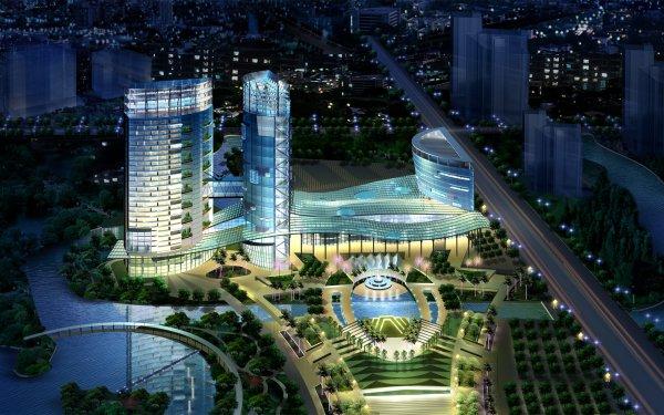 Artistic Building Buildings CGI City HD Wallpaper | Background Image