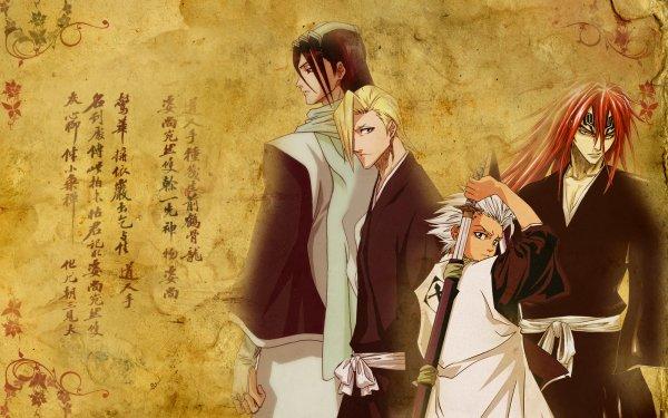 Anime Bleach Tōshirō Hitsugaya Renji Abarai Byakuya Kuchiki Izuru Kira HD Wallpaper   Background Image