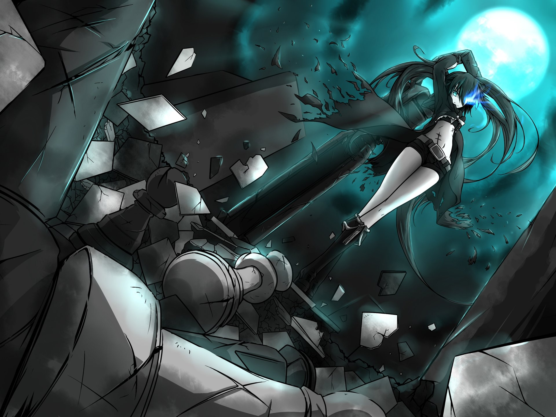 rock shooter 4k preview ultra hd anime