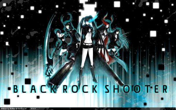 Anime Black Rock Shooter Dead Master Black Gold Saw Black Matagi HD Wallpaper | Background Image