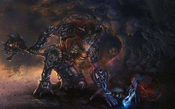 Fantaisie Créature Ogre Monstre Guerrier Fond d'écran HD   Image