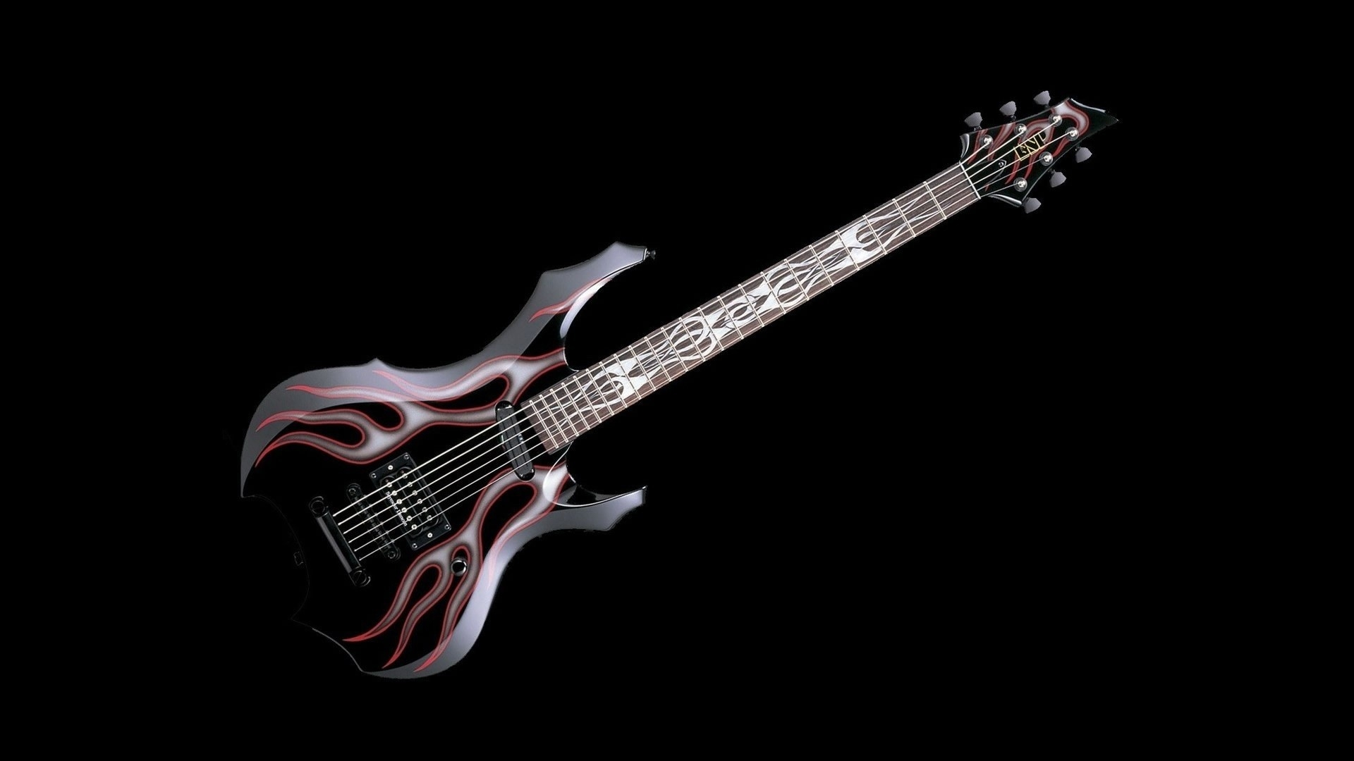 ESP GL Flame Baritone Full HD Wallpaper And Background Image
