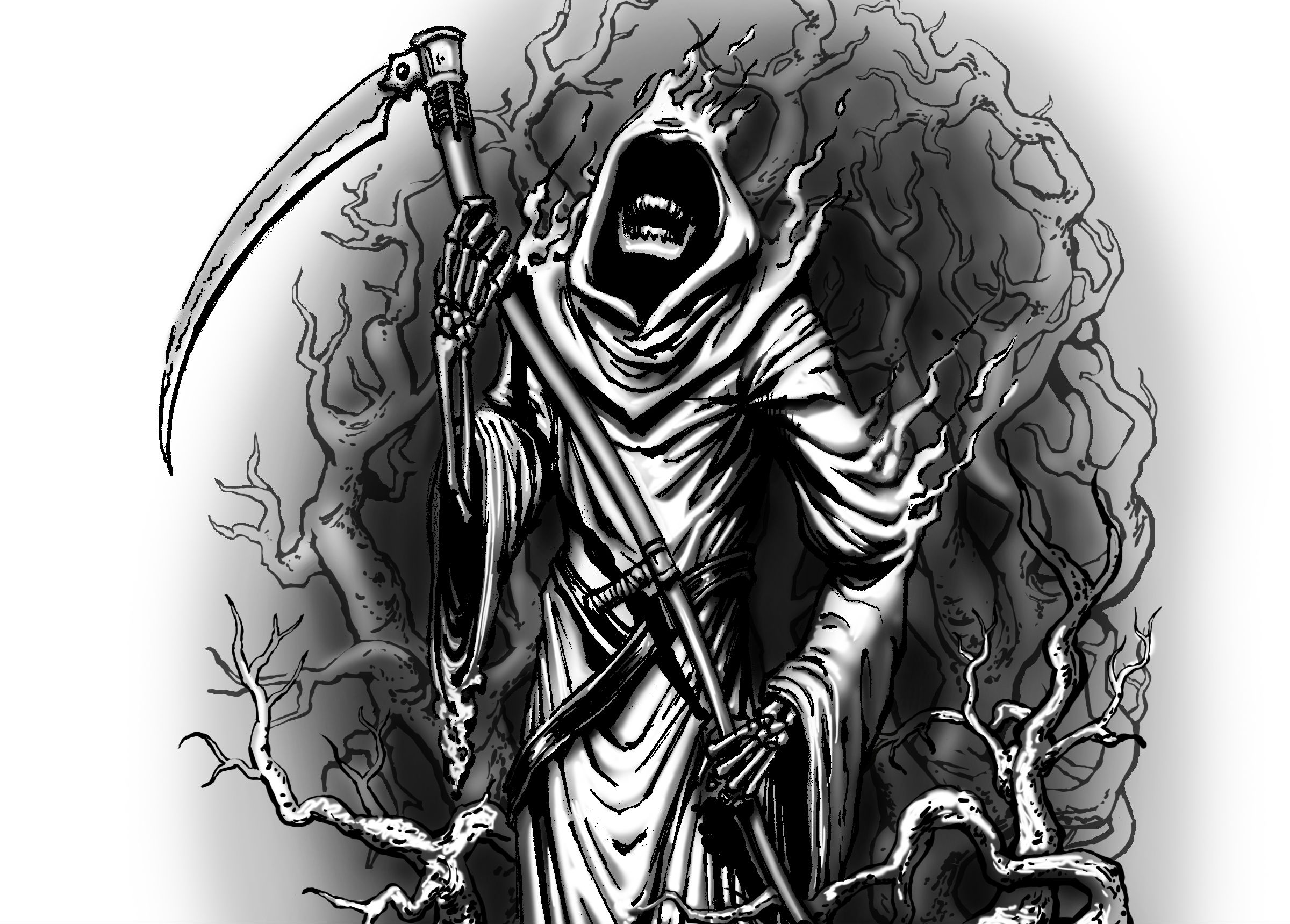 Grim reaper full hd wallpaper and background image for Line drawing wallpaper